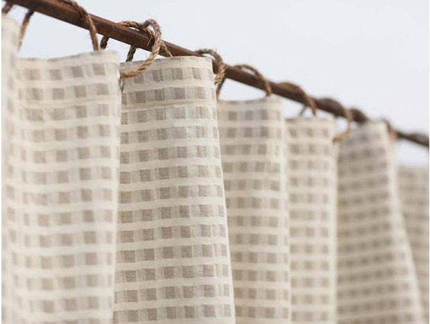 Cotton & Linen Birch Shower Curtain