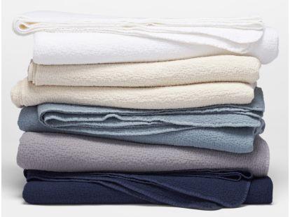 Cascade Organic Matelasse Blanket