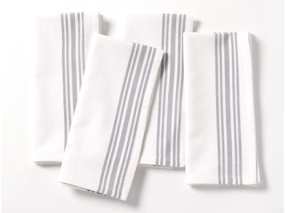 Farmhouse Organic Stripe Napkins, Set of 4