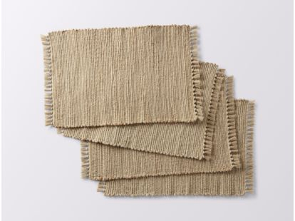 Handwoven Jute Place Mats, Set of 4