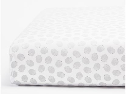 Hedgehog Printed Organic Crib Sheet