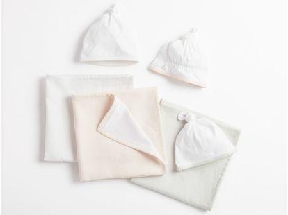 Linen Jersey Blanket & Hat Set