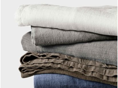 Larkspur Linen Blanket