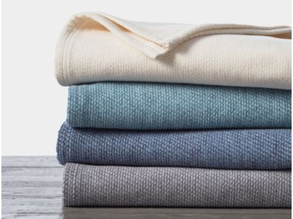 Sequoia Washable Organic Cotton & Wool Blanket Swatch