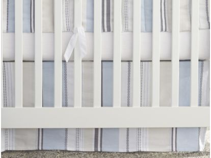 Sunset Stripe Crib Skirt