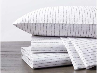 Tidal Stripe Printed Organic Sheet Set
