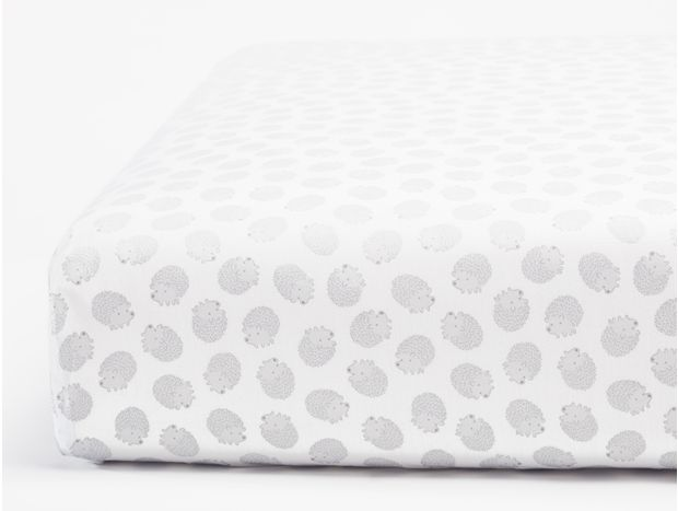 Hedgehog Printed Organic Crib Sheet