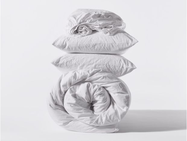 Organic Crinkled Percale Minimalist Set