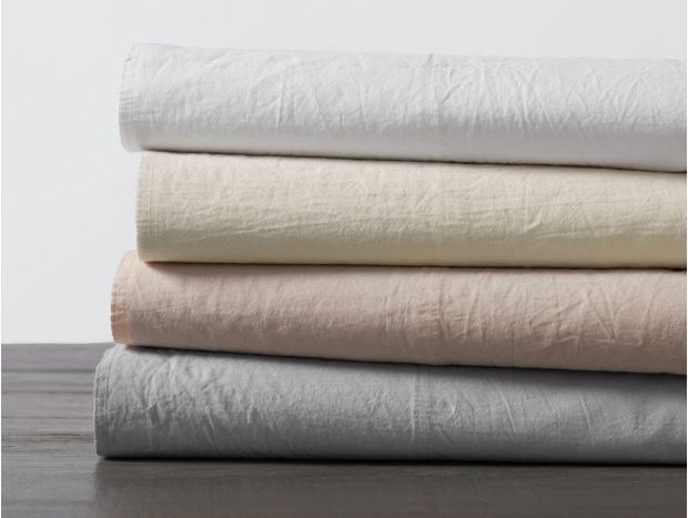 Organic Crinkled Percale Sheet Set