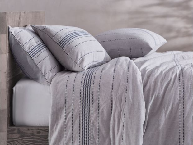 Organic Rippled Stripe Duvet Cover + Sham