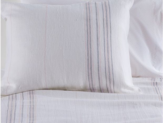 Rustic Linen Blanket & Sham