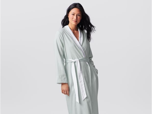 Women's Organic Sateen Terry Robe