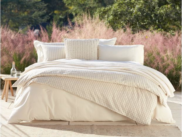 Organic Cotton & Linen Birch Duvet Cover