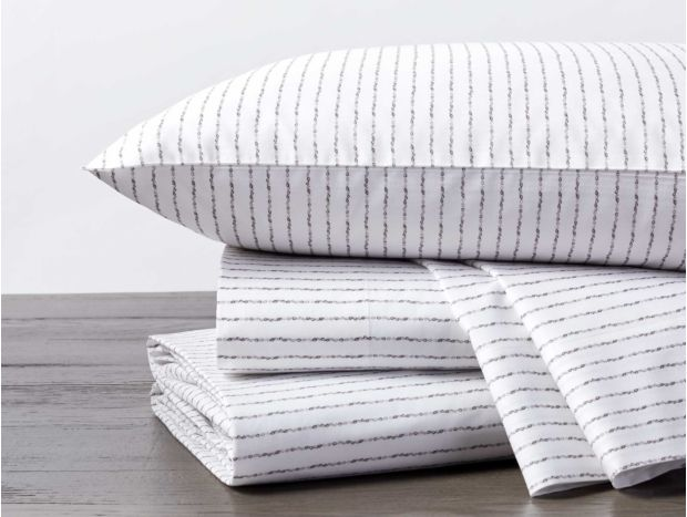 Tidal Stripe Printed Organic Sheet Set