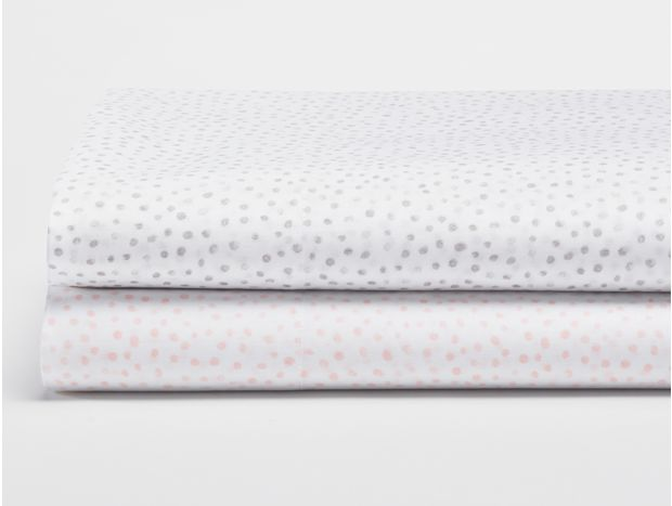Watercolor Printed Dot Organic Sheets