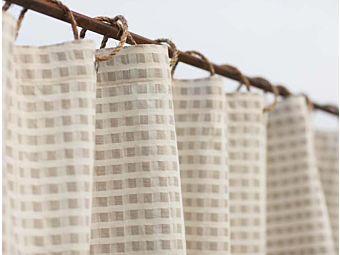 Cotton Linen Birch Shower Curtain