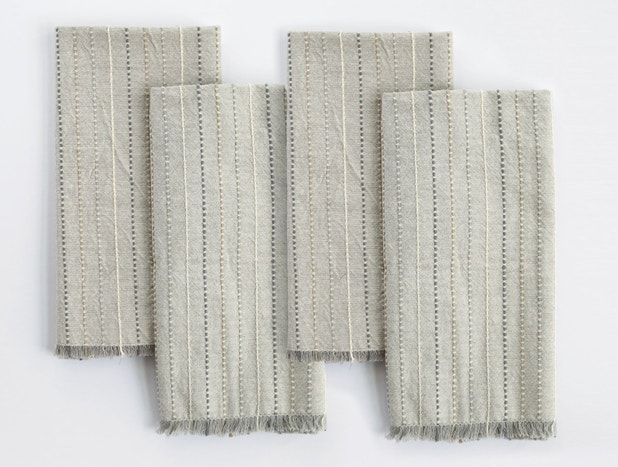 Fringe Stripe Organic Napkin, Set of 4
