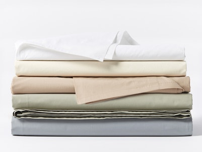300 Thread Count Organic Percale Fitted Sheets