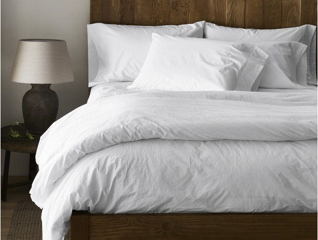 300 Thread Count Organic Percale Duvet Cover