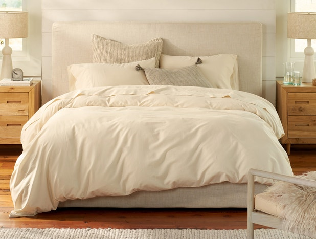 300 Thread Count Organic Sateen Duvet Cover