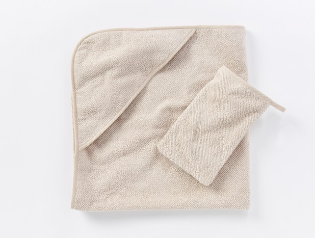 Air Weight® Organic Baby Hooded Towel Set