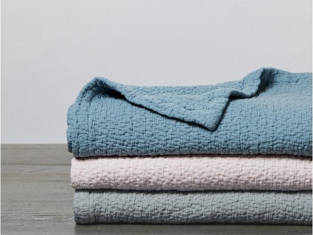 Cascade Organic Matelasse Baby Blanket