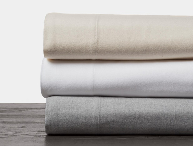 Organic cloud brushed flannel sheet sets