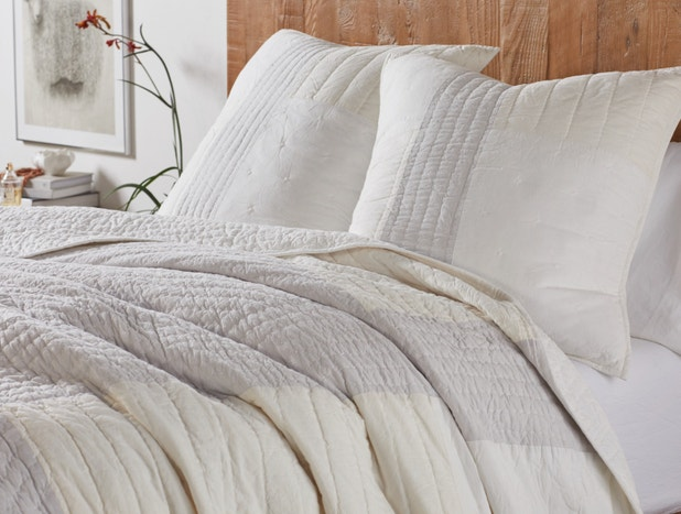 Color Block Organic Sham