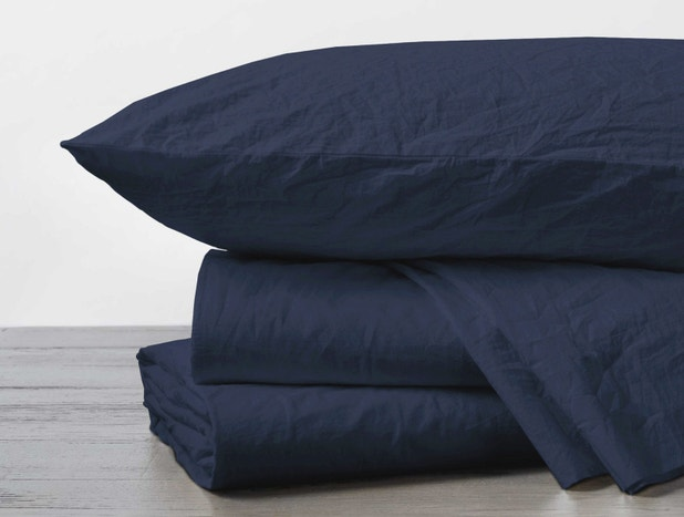 Organic Crinkled Percale™ Sheets