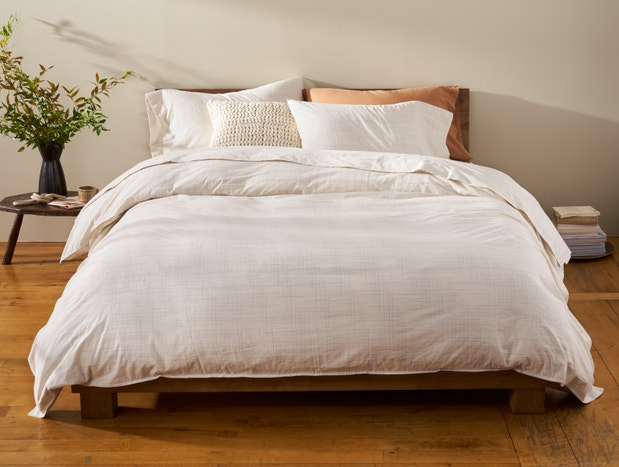 Organic Crinkled Percale™️ Duvet Cover