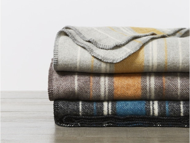 Diablo Striped Climate Beneficial Wool Throw