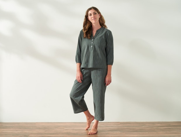 Women's Laguna Organic Wide Leg Crop Pants