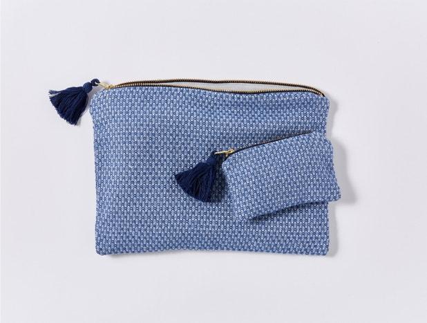 Mediterranean Organic Zipper Pouch Set