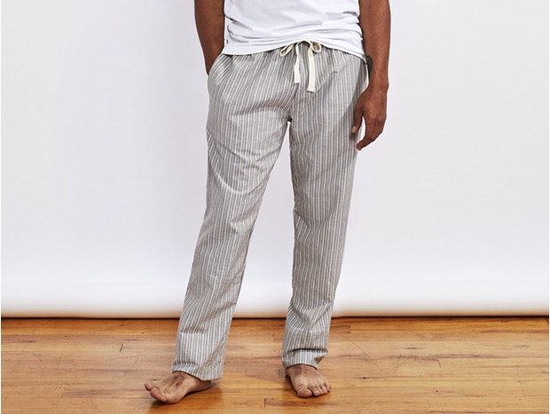 Men's Striped Organic Crinkled Pajama Pant