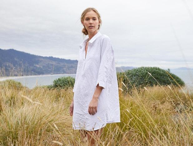Women's Organic Crinkled Sleep Shirt