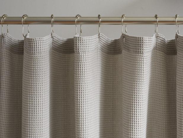 Organic Waffle Shower Curtain