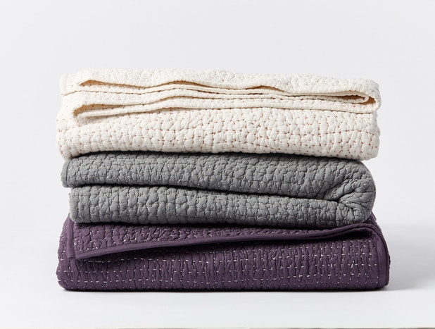 Pebbled Handstitched Organic Quilt