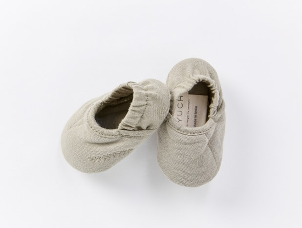 Remi Organic Jersey Baby Booties