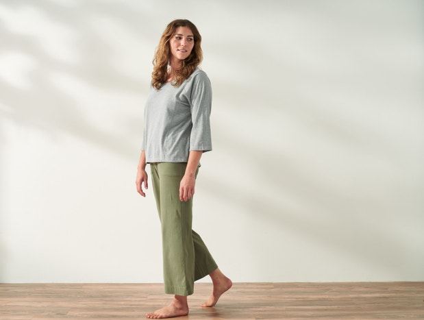 Women's Solstice Organic Wide Leg Crop Pants