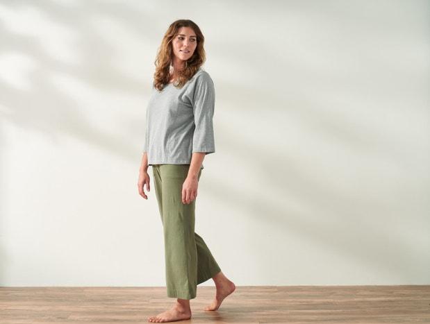 Women's Solstice Organic Wide Leg Crop Pants