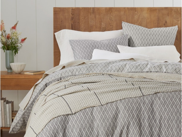 Travertine Reversible Organic Duvet Cover