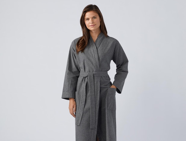 Unisex Cloud Brushed™ Organic Flannel Robe