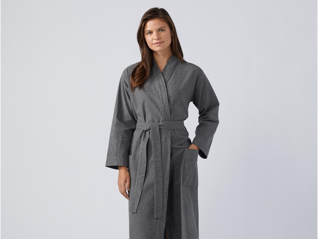 Unisex Cloud Brushed Organic Flannel Robe