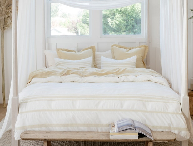Ventura Striped Organic Duvet Cover