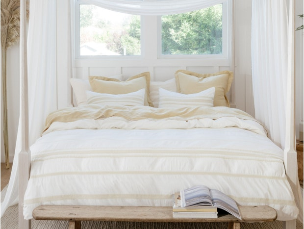 Ventura Striped Organic Duvet Cover