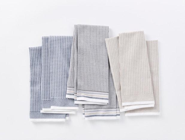 Organic Waffle Kitchen Towels, Set of 6
