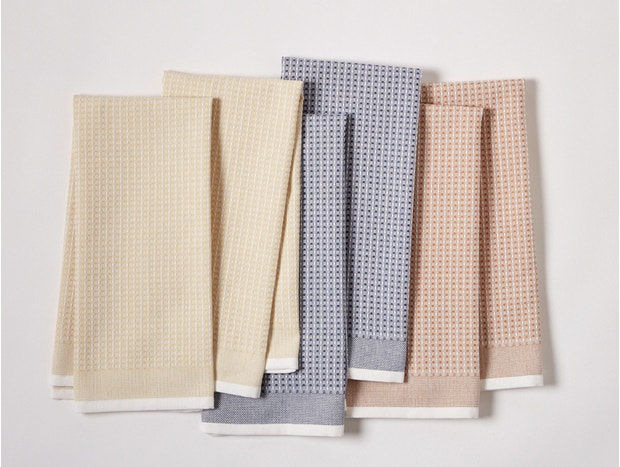 Organic Waffle Kitchen Towels, Set of 6