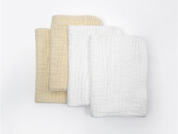 Wave Matelasse Burp Cloth Set