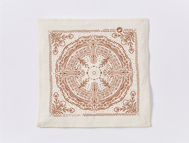 White Buffalo Land Trust Bandana Napkins, Set of 4