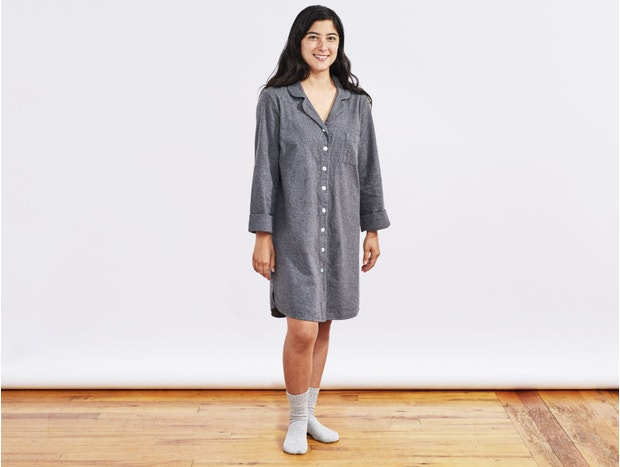 Women's Cloud Brushed™ Organic Flannel Sleep Shirt